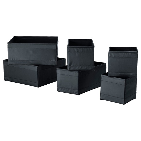 IKEA Other - Set of 2 -SKUBB Box, Pack of 6, black
